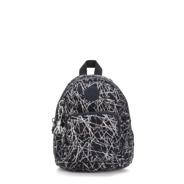 GLAYLA Navy Stick Print Gifting BACKPACKS by Kipling Front