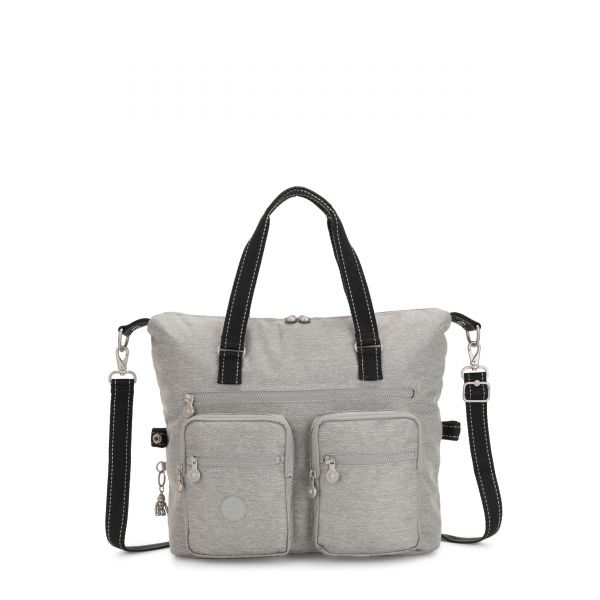 NEW ERASTO Chalk Grey TOTE by Kipling Front