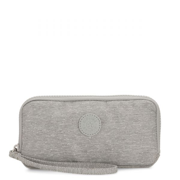 ZORA Chalk Grey WALLETS by Kipling Front