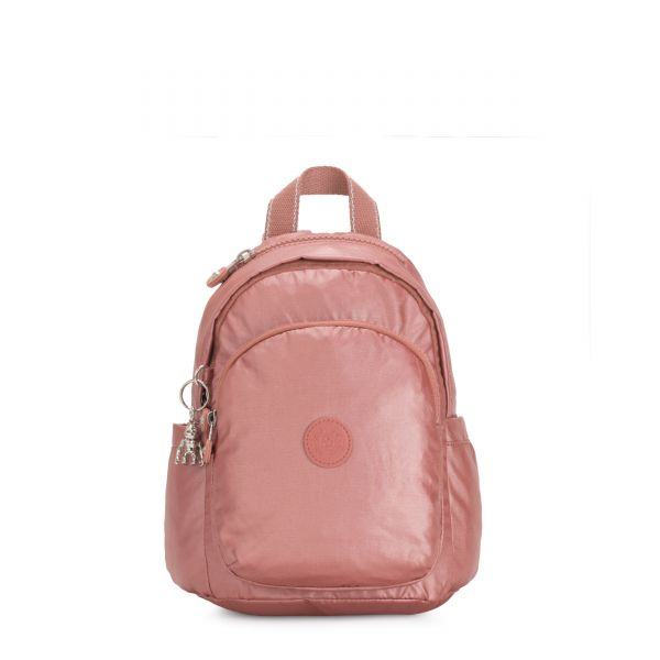 DELIA MINI Metallic Rust BACKPACKS by Kipling Front