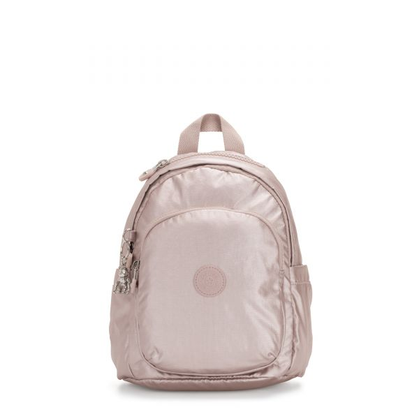 DELIA MINI Metallic Rose BACKPACKS by Kipling Front