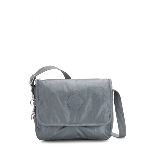 NITANY Steel Grey Metallic CROSSBODY by Kipling Front