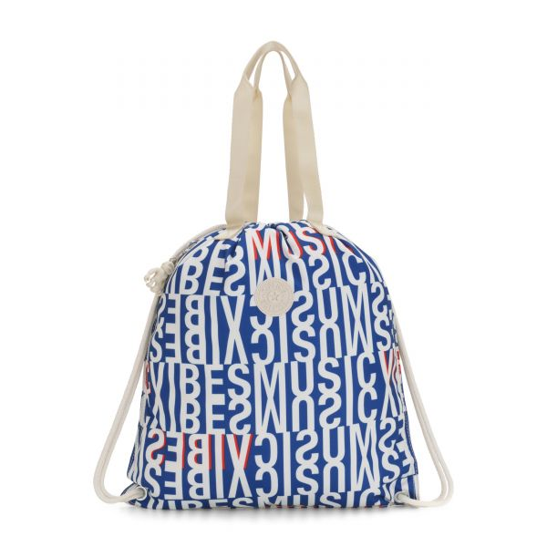 HIPHURRAY Blue Studio Print TOTE by Kipling Front