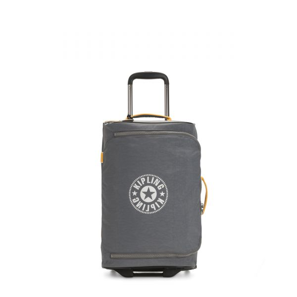DISTANCE S Dark Carbon Yellow CARRY ON by Kipling Front