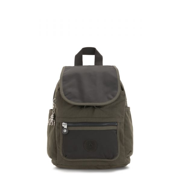 WAKITA Cold Black Olive BACKPACKS by Kipling Front