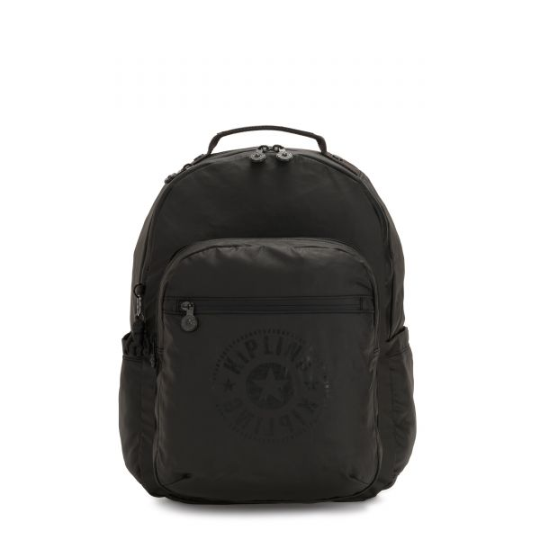 SEOUL Raw Black BACKPACKS by Kipling Front