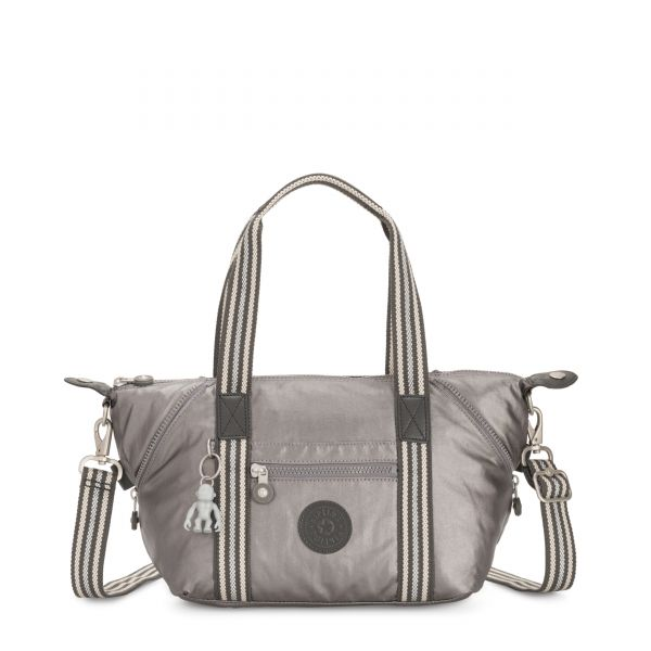 ART MINI Carbon Metallic SHOULDERBAGS by Kipling Front