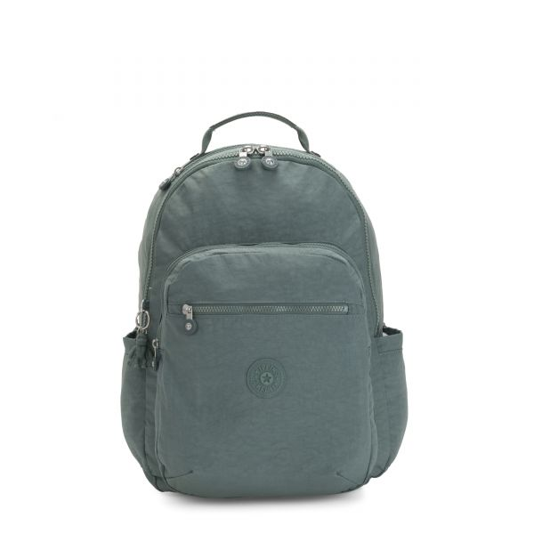 SEOUL Light Aloe BACKPACKS by Kipling Front