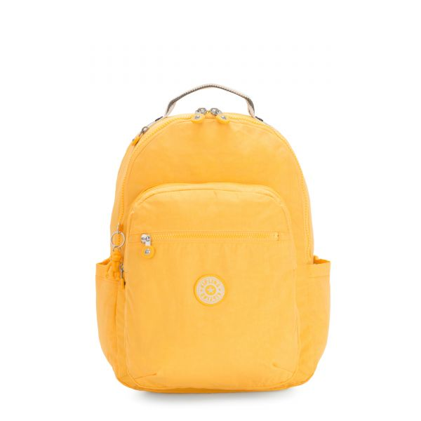 SEOUL Vivid Yellow BACKPACKS by Kipling Front