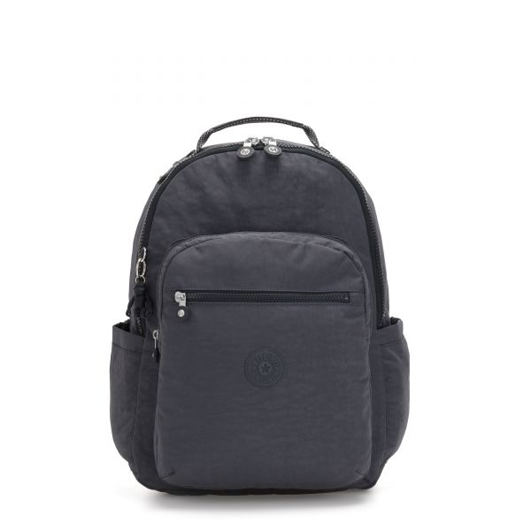 SEOUL Night Grey BACKPACKS by Kipling Front