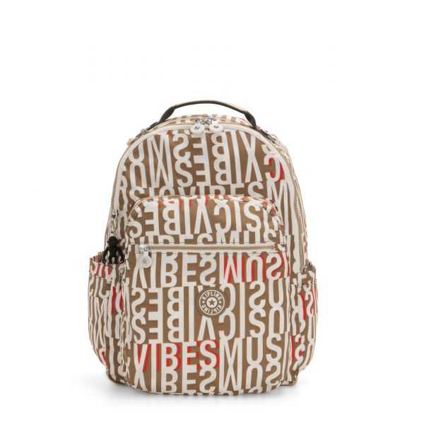 SEOUL Studio Print BACKPACKS by Kipling Front