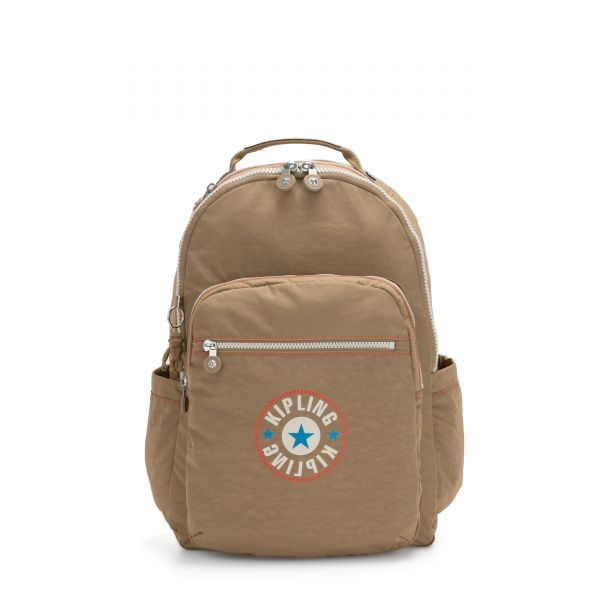 SEOUL Sand Block BACKPACKS by Kipling Front