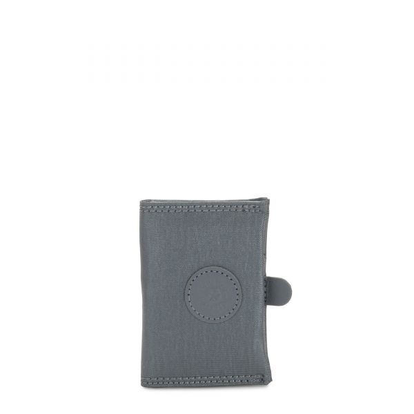 CARD KEEPER Steel Grey Metallic WALLETS by Kipling Front