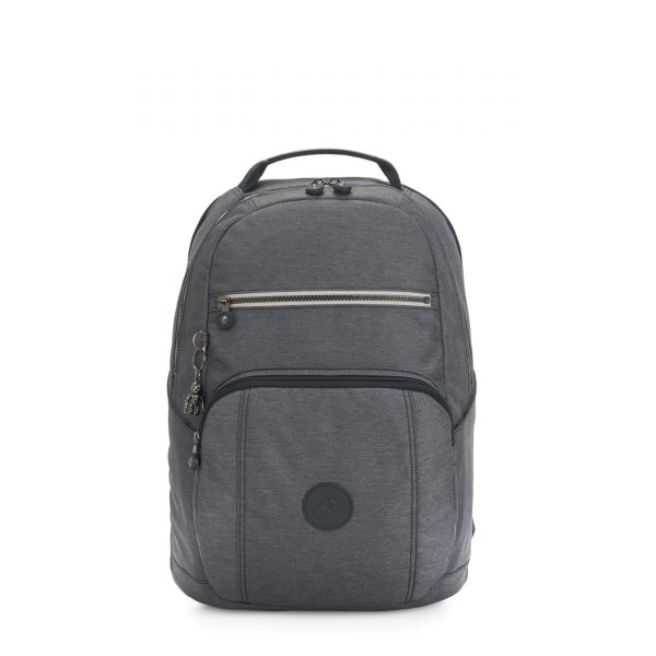 TROY Charcoal BACKPACKS by Kipling Front