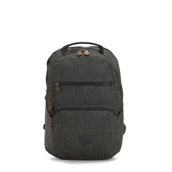 TROY Black Indigo BACKPACKS by Kipling Front