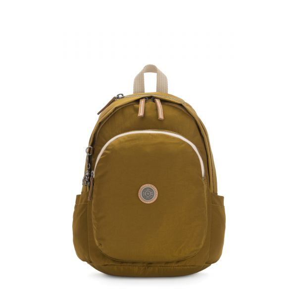 DELIA Mustard Green BACKPACKS by Kipling Front