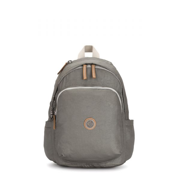 DELIA Dark Metal BACKPACKS by Kipling Front