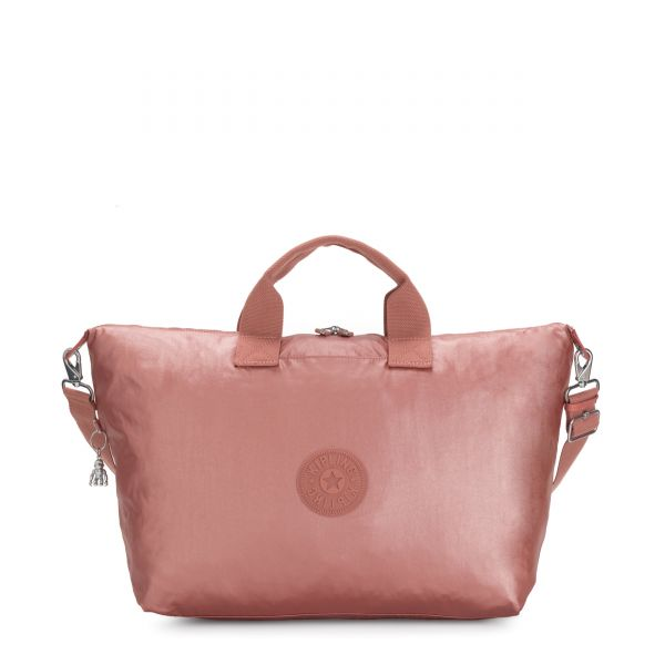 KALA M Metallic Rust Origin TOTE by Kipling Front