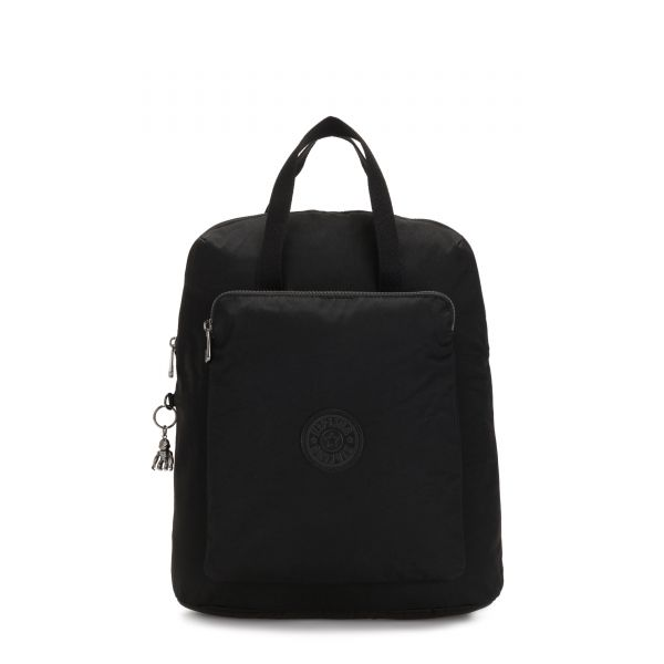 KAZUKI Rich Black BACKPACKS by Kipling Front