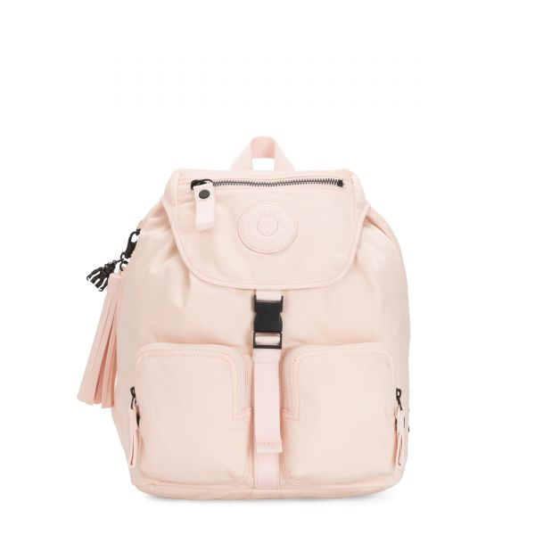 INAN Feather Pink BACKPACKS by Kipling Front