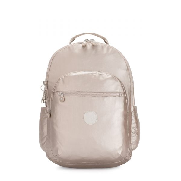 SEOUL XL Metallic Glow BACKPACKS by Kipling Front
