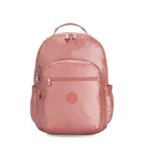 SEOUL XL Metallic Rust BACKPACKS by Kipling Front