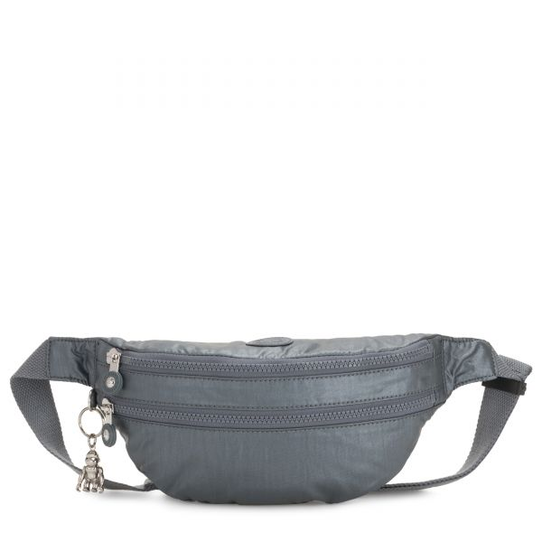 SARA Steel Grey Metallic CROSSBODY by Kipling Front