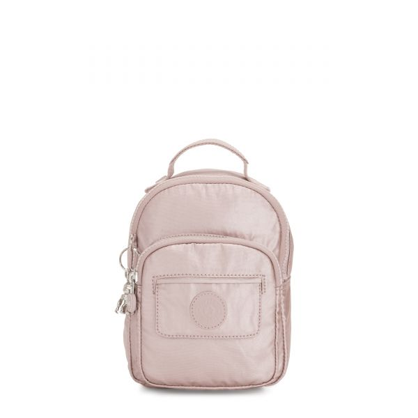 ALBER Metallic Rose BACKPACKS by Kipling Front