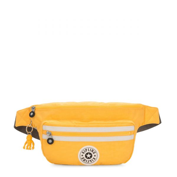 YASEMINA XL Vivid Yellow Combo CROSSBODY by Kipling Front