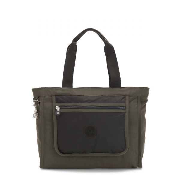 LEOTA Cold Black Olive TOTE by Kipling Front