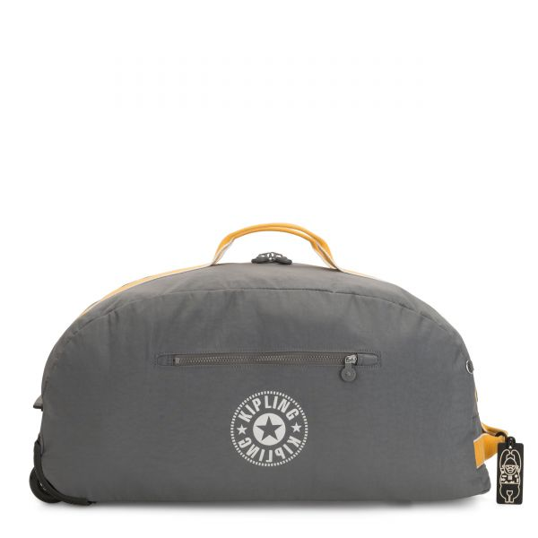 DEVIN ON WHEELS Dark Carbon Yellow CARRY ON by Kipling Front