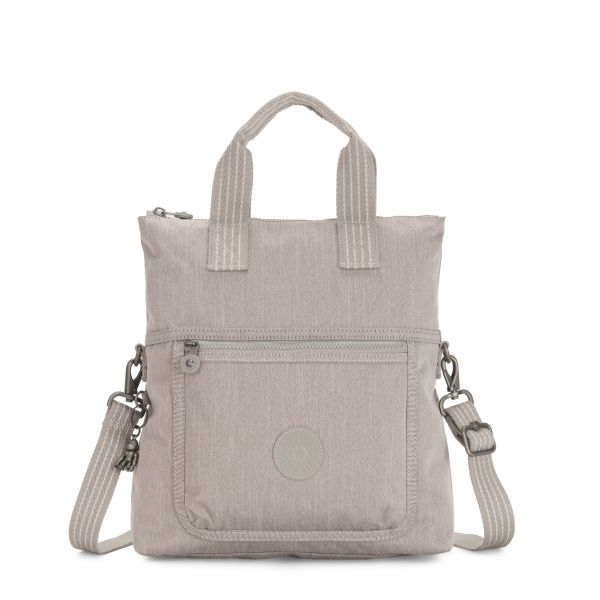 ELEVA Grey Beige Peppery SHOULDERBAGS by Kipling Front