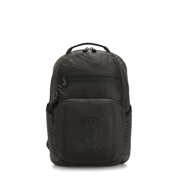TROY EXTRA Raw Black BACKPACKS by Kipling Front