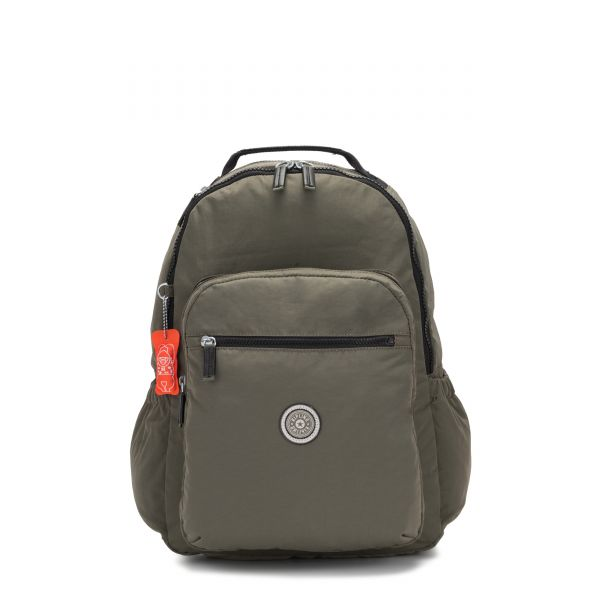 SEOUL GO Cool Moss BACKPACKS by Kipling Front