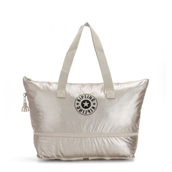 IMAGINE PACK Cloud Metal Combo TOTE by Kipling Front
