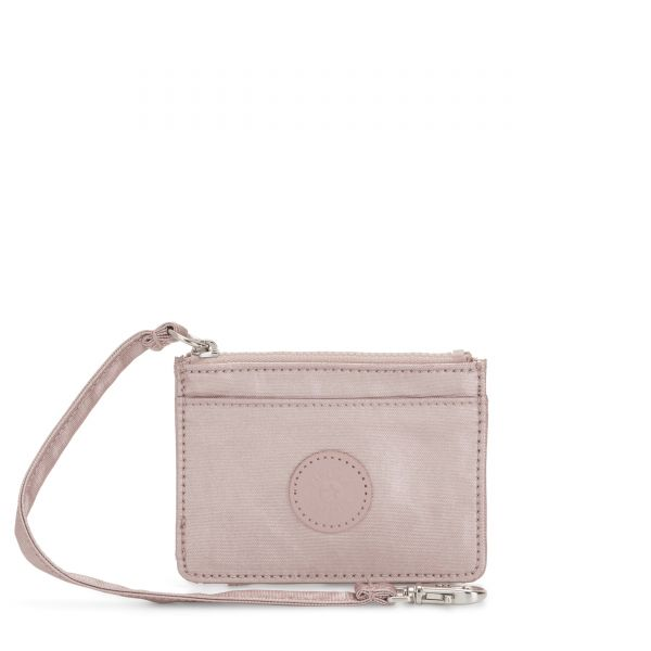 CINDY Metallic Rose WALLETS by Kipling Front