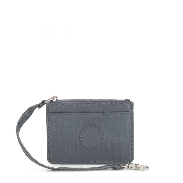 CINDY Steel Grey Metallic WALLETS by Kipling Frpnt