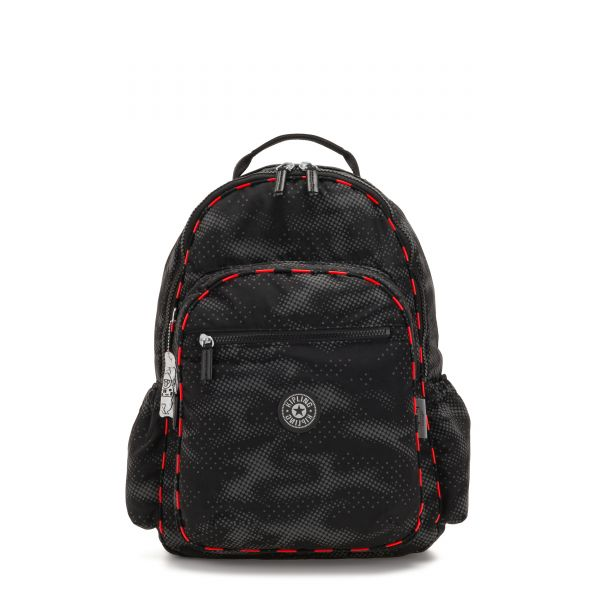 SEOUL GO Camo Fl light BACKPACKS by Kipling Front