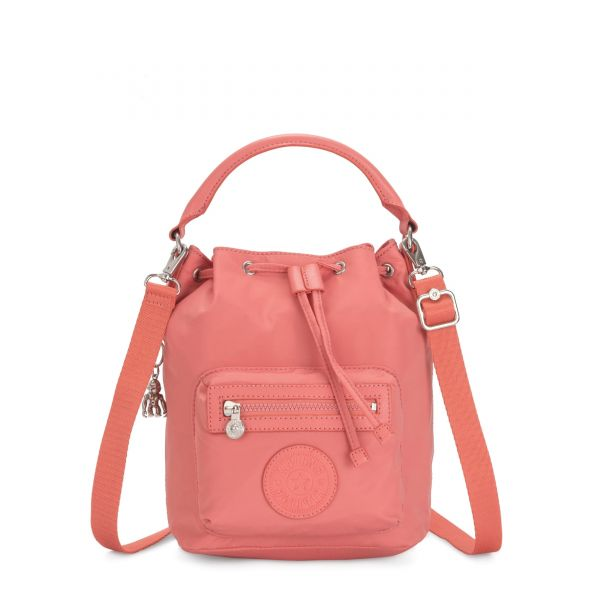 VIOLET S Coral Pink SHOULDERBAGS by Kipling Front