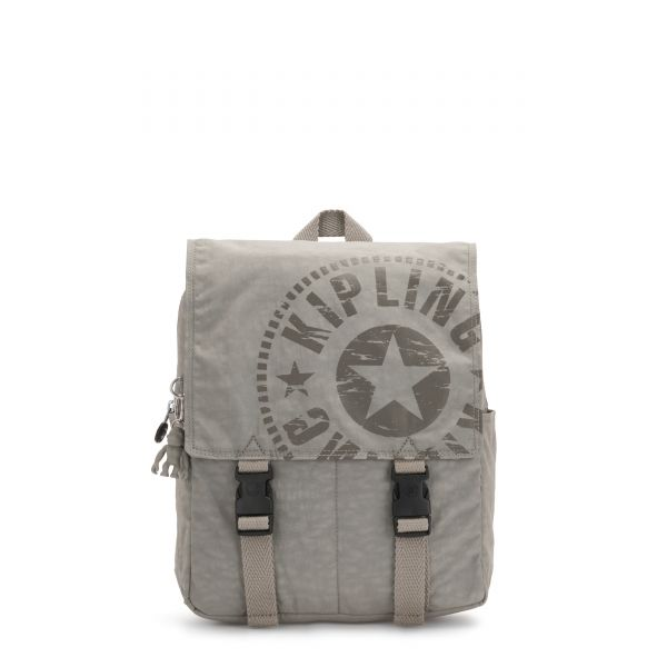 LEONIE S Rapid Grey BACKPACKS by Kipling Front
