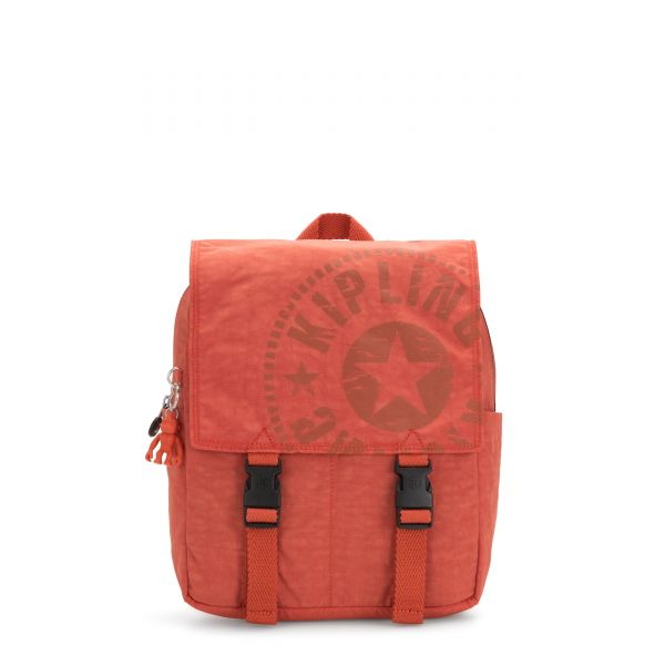 LEONIE S Hearty Orange BACKPACKS by Kipling Front