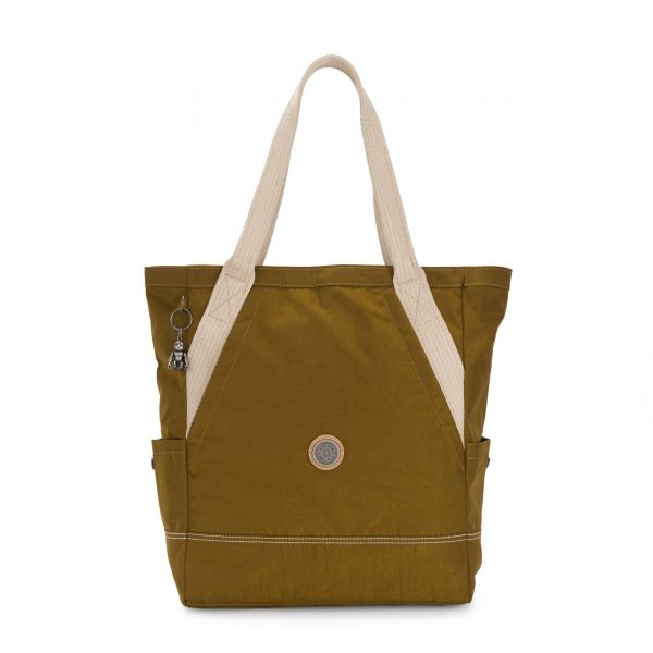ALMATO Mustard Green TOTE by Kipling Front