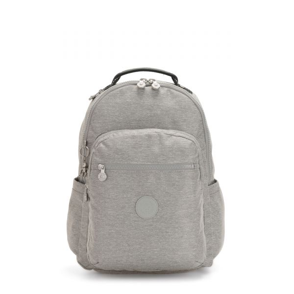 SEOUL Chalk Grey BACKPACKS by Kipling Front