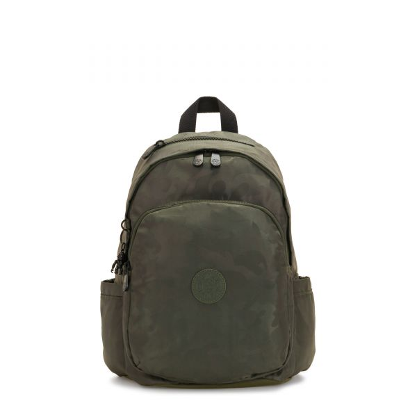 DELIA Satin Camo BACKPACKS by Kipling Front