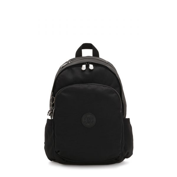 DELIA Rich Black BACKPACKS by Kipling Front