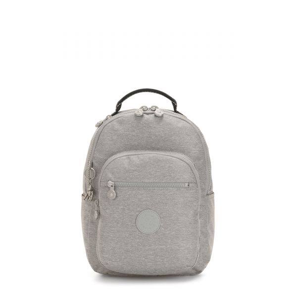SEOUL S Chalk Grey BACKPACKS by Kipling Front
