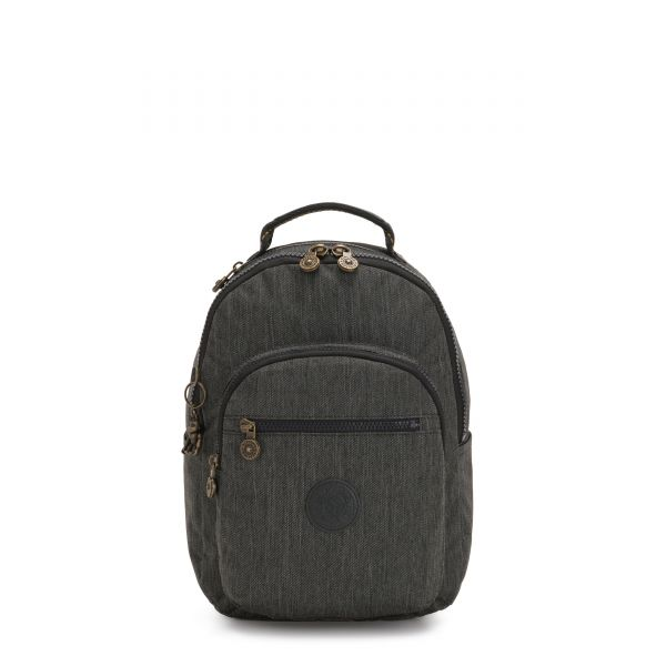 SEOUL S Black Indigo BACKPACKS by Kipling Front