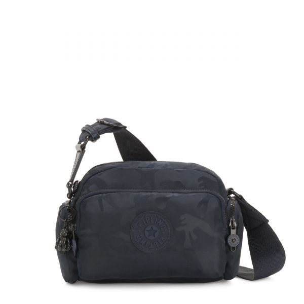JENERA S Satin Camo Blue CROSSBODY by Kipling Front