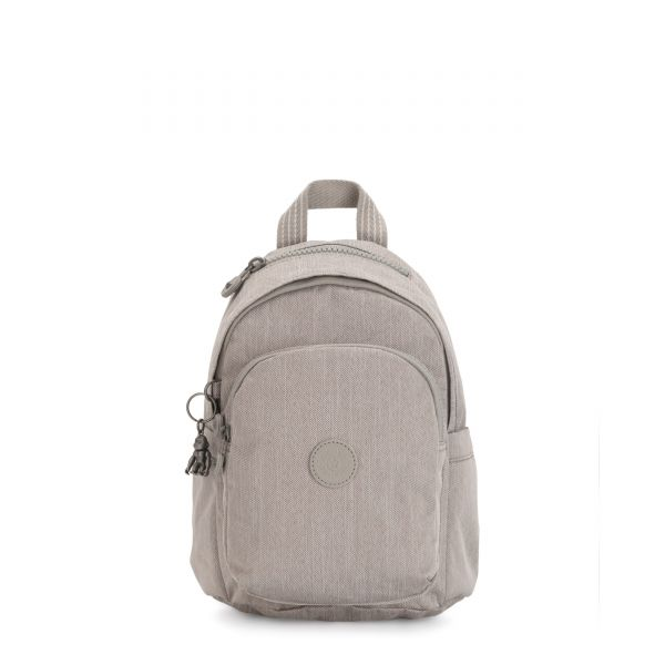 DELIA MINI Grey Beige Peppery BACKPACKS by Kipling Front