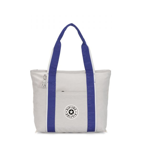 ERA M Curiosity Grey Combo TOTE by Kipling Front